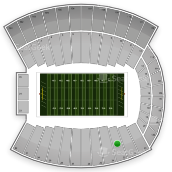 Indiana Hoosiers Football at Memorial Stadium Section 23 View