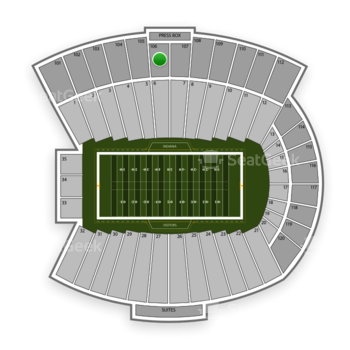 Indiana Hoosiers Football at Memorial Stadium Indiana Section 106 View