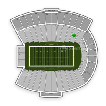 Indiana Hoosiers Football at Memorial Stadium Indiana Section 11 View