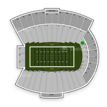 Indiana Hoosiers Football at Memorial Stadium Section 13 View
