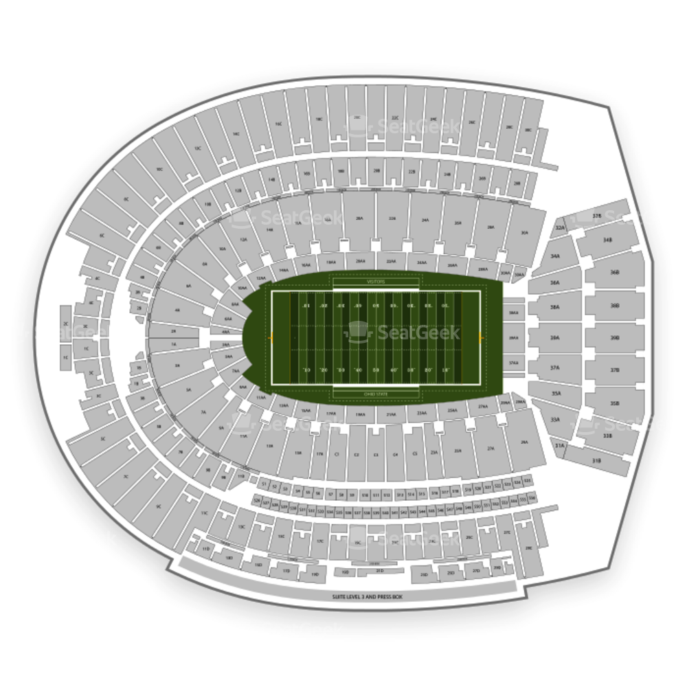 Ohio State Buckeyes Football Seating Chart