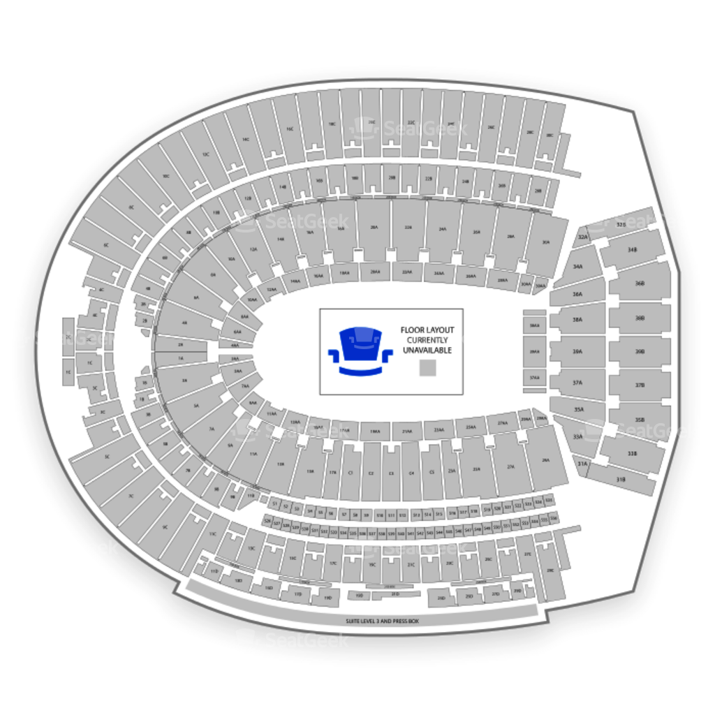 Ohio State Buckeyes Football Seating Chart Map Seatgeek