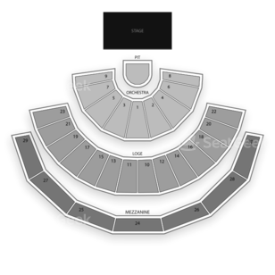Gibson Amphitheatre Seating Chart Concert