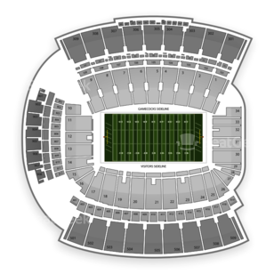 South Carolina Gamecocks Football Seating Chart