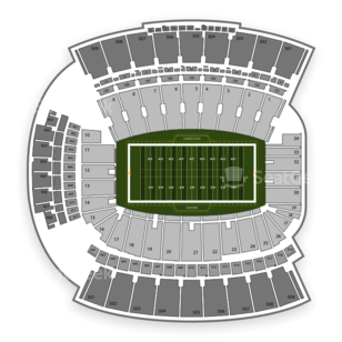 Williams-Brice Stadium Seating Chart NCAA Football