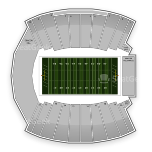 Wake Forest Demon Deacons Football Seating Chart