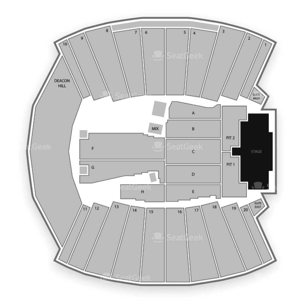 BB&T Field Seating Chart Concert