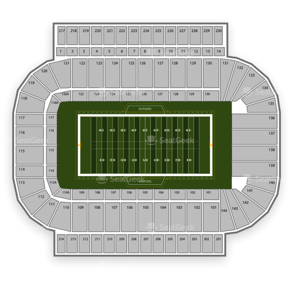 Rutgers Scarlet Knights Football Seating Chart