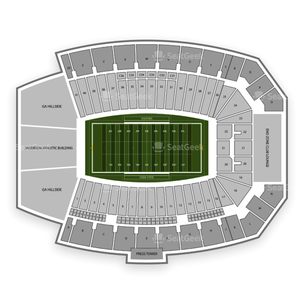 Jack Trice Stadium Seating Chart Parking