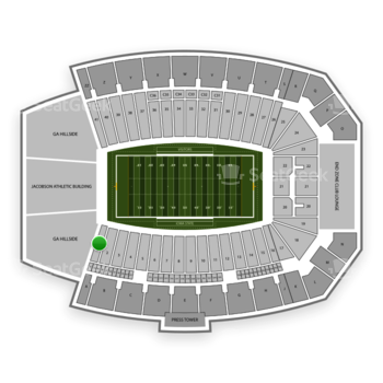 Iowa State Cyclones Football at Jack Trice Stadium Section 1 View