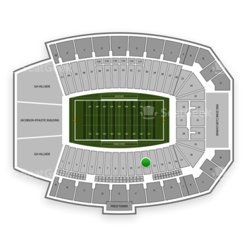 Iowa State Cyclones Football at Jack Trice Stadium Section 12 View