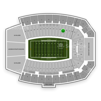 Iowa State Cyclones Football at Jack Trice Stadium Section 29 View