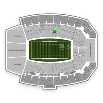 Iowa State Cyclones Football at Jack Trice Stadium Section 32 View