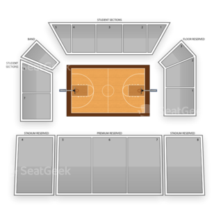 Idaho Vandals Basketball Seating Chart