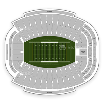 Florida State Seminoles Football at Doak Campbell Stadium Section 321 View