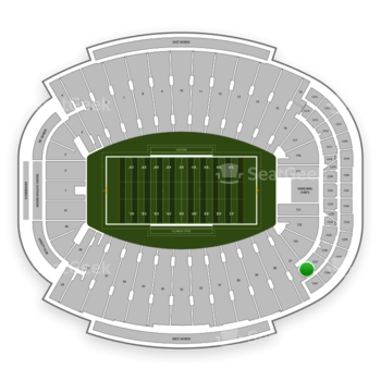 Florida State Seminoles Football at Doak Campbell Stadium Section Club 228 View