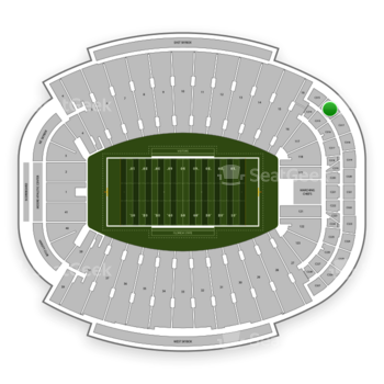 Florida State Seminoles Football at Doak Campbell Stadium Section Club 316 View