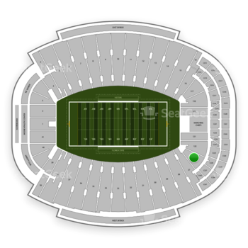 Florida State Seminoles Football at Doak Campbell Stadium Section 123 View