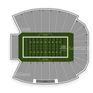 Vanderbilt Stadium Seating Chart NCAA Football