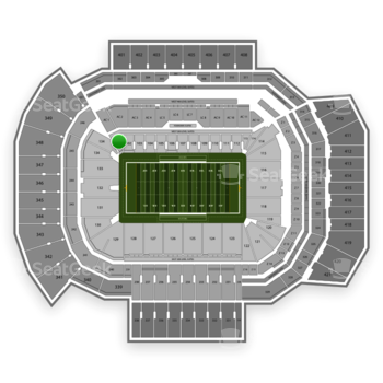Texas A&M Aggies Football at Kyle Field Section 101 View