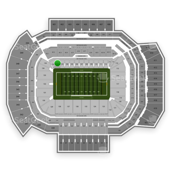 Texas A&M Aggies Football at Kyle Field Section 102 View