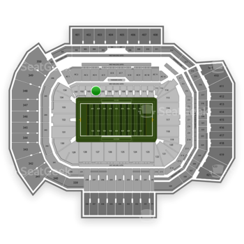 Texas A&M Aggies Football at Kyle Field Section 104 View
