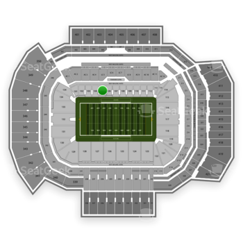 Texas A&M Aggies Football at Kyle Field Section 105 View