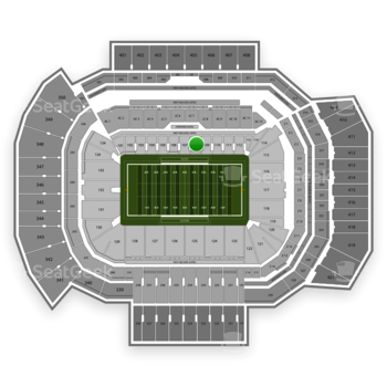 Texas A&M Aggies Football at Kyle Field Section 108 View