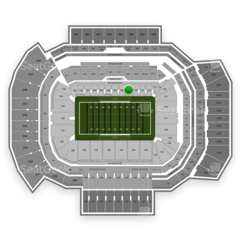 Texas A&M Aggies Football at Kyle Field Section 109 View