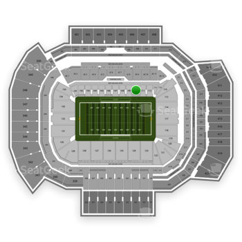 Texas A&M Aggies Football at Kyle Field Section 110 View