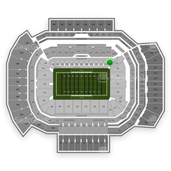 Texas A&M Aggies Football at Kyle Field Section 113 View