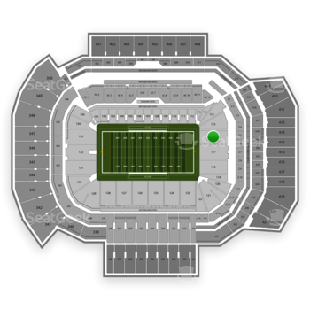 Texas A&M Aggies Football at Kyle Field Section 116 View