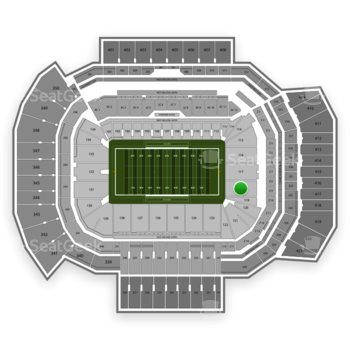 Texas A&M Aggies Football at Kyle Field Section 118 View