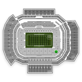 Texas A&M Aggies Football at Kyle Field Section 121 View