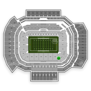 Texas A&M Aggies Football at Kyle Field Section 122 View