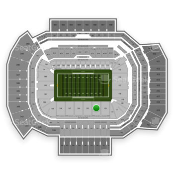 Texas A&M Aggies Football at Kyle Field Section 124 View