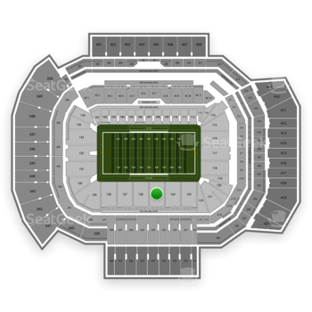 Texas A&M Aggies Football at Kyle Field Section 125 View