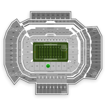 Texas A&M Aggies Football at Kyle Field Section 126 View