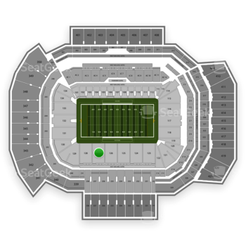 Texas A&M Aggies Football at Kyle Field Section 127 View