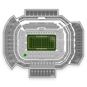 Texas A&M Aggies Football at Kyle Field Section 129 View