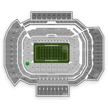 Texas A&M Aggies Football at Kyle Field Section 130 View