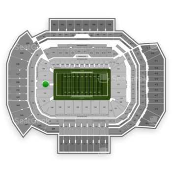 Texas A&M Aggies Football at Kyle Field Section 132 View