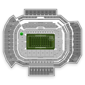Texas A&M Aggies Football at Kyle Field Section 134 View