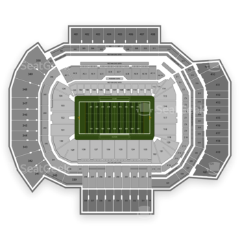 Texas A&M Aggies Football at Kyle Field Section 208 View