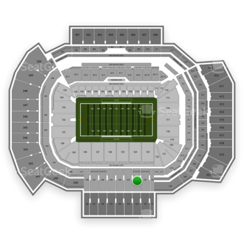 Texas A&M Aggies Football at Kyle Field Section 232 View