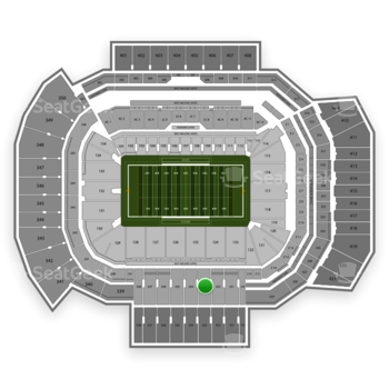 Texas A&M Aggies Football at Kyle Field Section 233 View