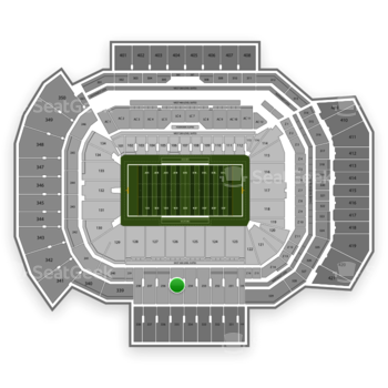 Texas A&M Aggies Football at Kyle Field Section 235 View