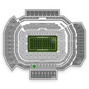Texas A&M Aggies Football at Kyle Field Section 237 View