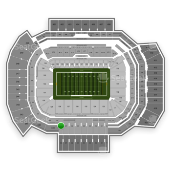 Texas A&M Aggies Football at Kyle Field Section 238 View