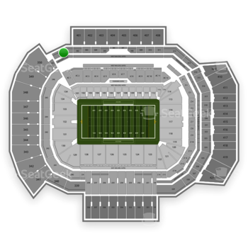 Texas A&M Aggies Football at Kyle Field Section 301 View